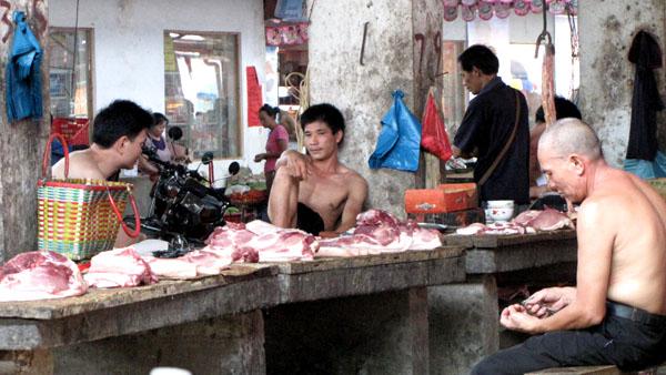 Etalage de viandes